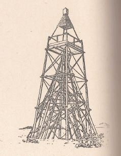 Maketa pôvodnej veže (Zdroj: Geodézia a.s.)